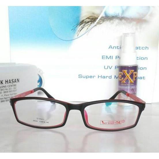 Frame Kacamata U-Ltem Book 8023 Rd/Kacamata Minus/Remaja/Anak Anak - Djfpwjg