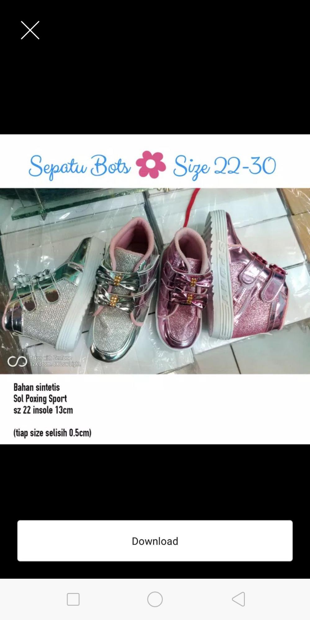 Sepatu anak Booth pink