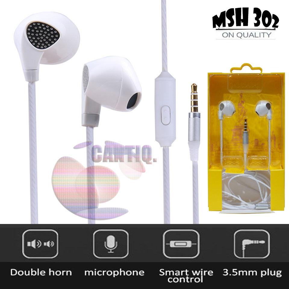 Headset MSH 302 Stereo 3.5mm In-ear Earphone NON Earbuds with Microphone For PC Apple Macbook Android In ear iPhones Headset Xiaomi Handsfree jack stereo mega bass earphone mp3 earphone mp4 earphone for iphone earphone for oppo