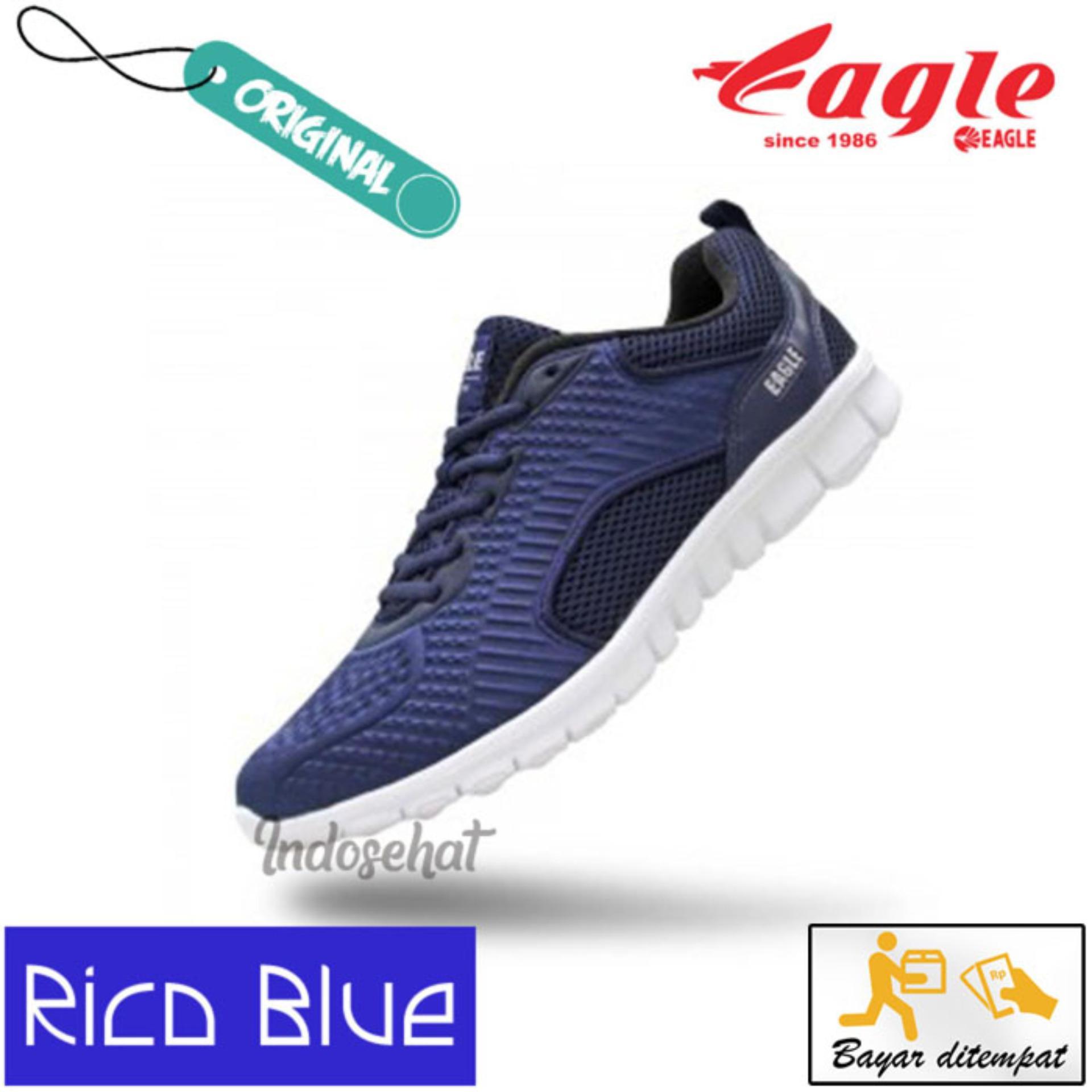 Jual Sepatu Eagle Terbaru Neutron Running Grey Navy Org 37 Olahraga Rico Blue White