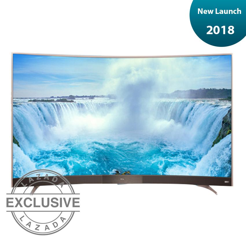 TCL 49 inch Curved LED Full HD TV - Hitam (model: 49P32)