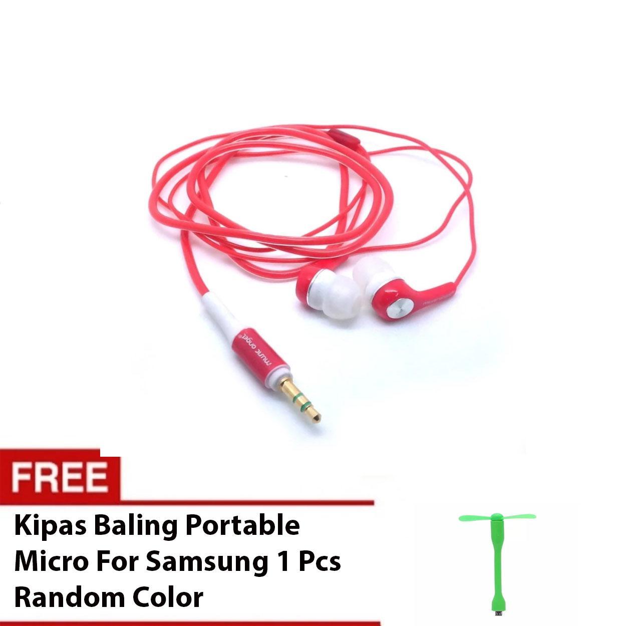 Angel Micro Mini Fan Kipas Angin Baling Portable Colokan Isi 2 Hp V8 Harga Music Earphone Ma222 Bundling For Samsung Random Hargaloka
