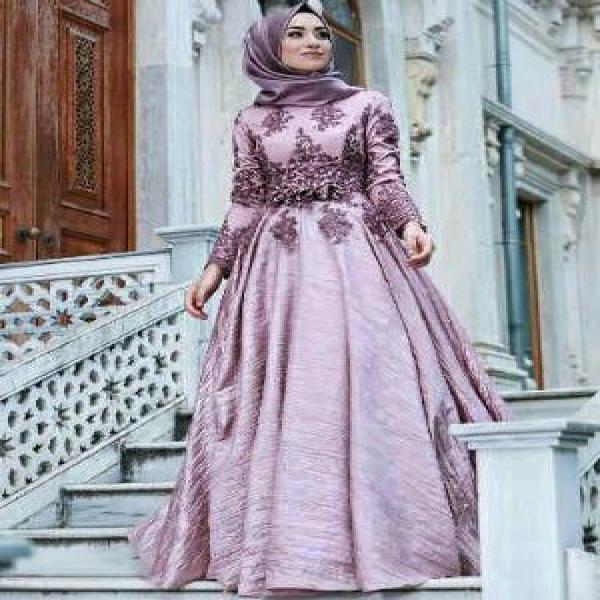 Jual Baju Busana Muslim Wanita Gamis Pesta Terbaru CKR Maxy Arabia Dusty Murah