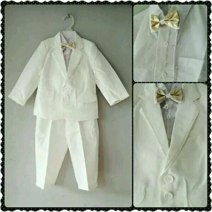 Baju Bayi Laki Laki / Jas / Kemeja Anak Lucu/ Murah Bob Tuxedo Suit - Tzzpku