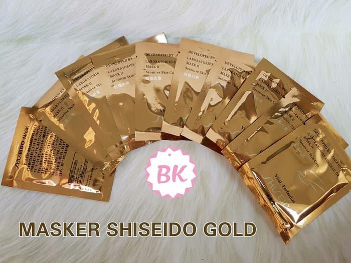 Shiseido Gold Mask (Masker Emas Wajah) Shisedo 24K Whitening Mask