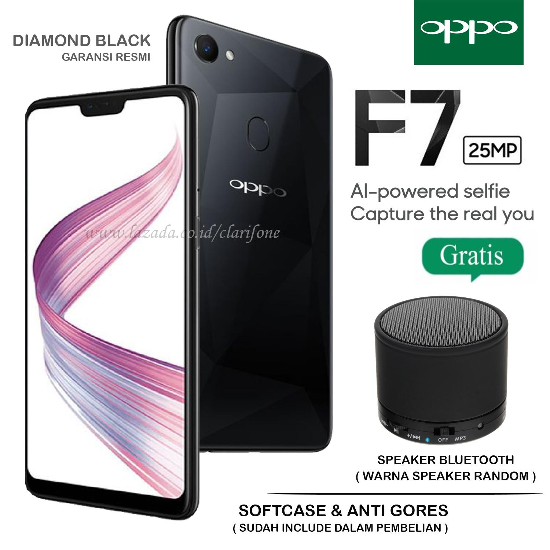Oppo F7 - Selfie Camera 24MP - Ram 4GB - Rom 64GB - Layar 6.23 inch - Garansi Resmi