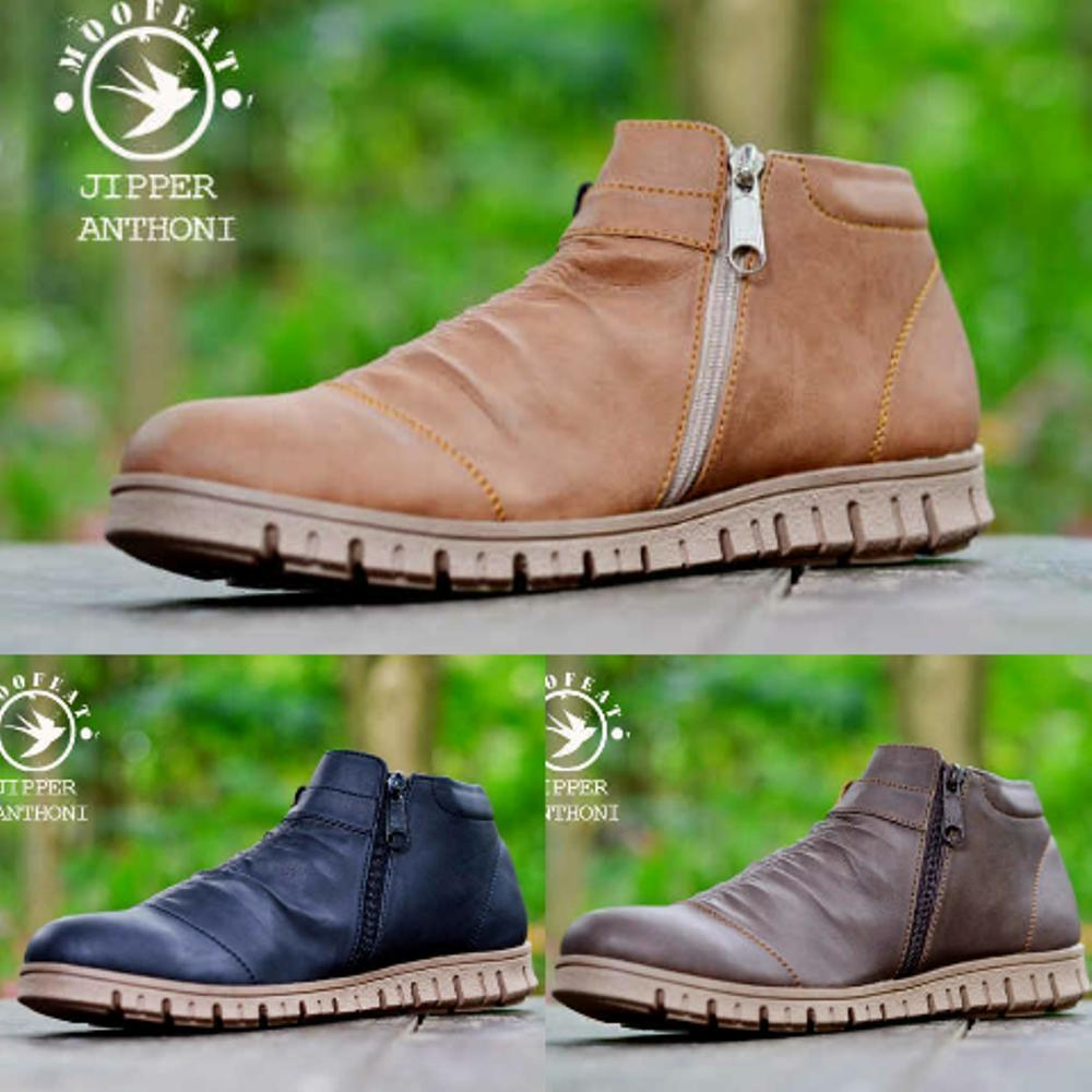 Promo s boot sleting moofeat original semi formal.touring / competitor kickers...caterpillar Diskon