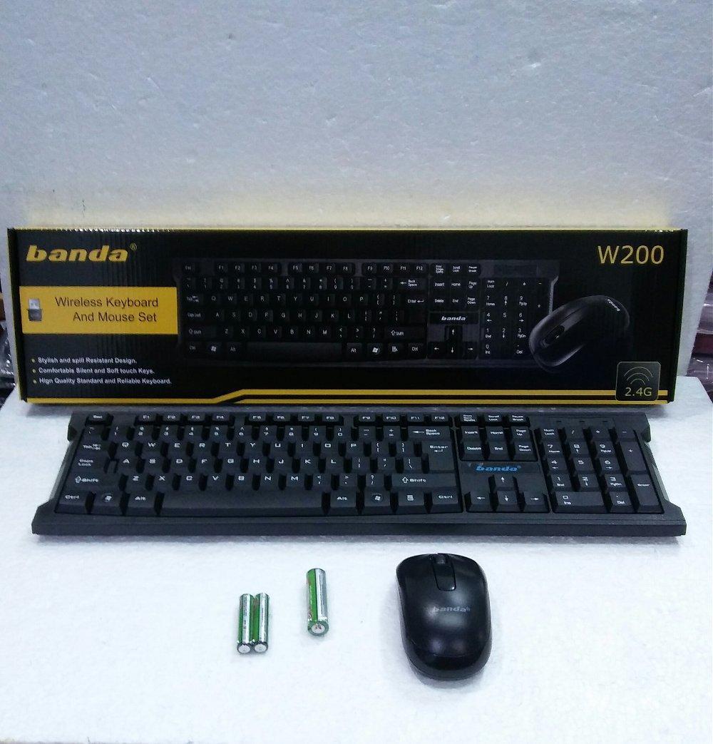 Keyboard Wireless dan Mouse Set Banda W200 di lapak Andy Lau andylau496