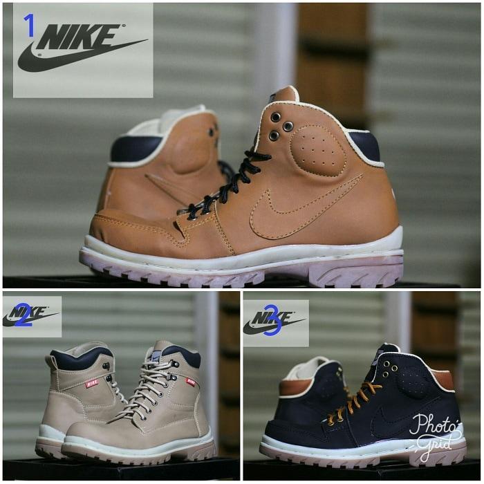 Promo Sepatu Pria Nike Tracker Safety Boots Tracking Kerja Lapangan Diskon