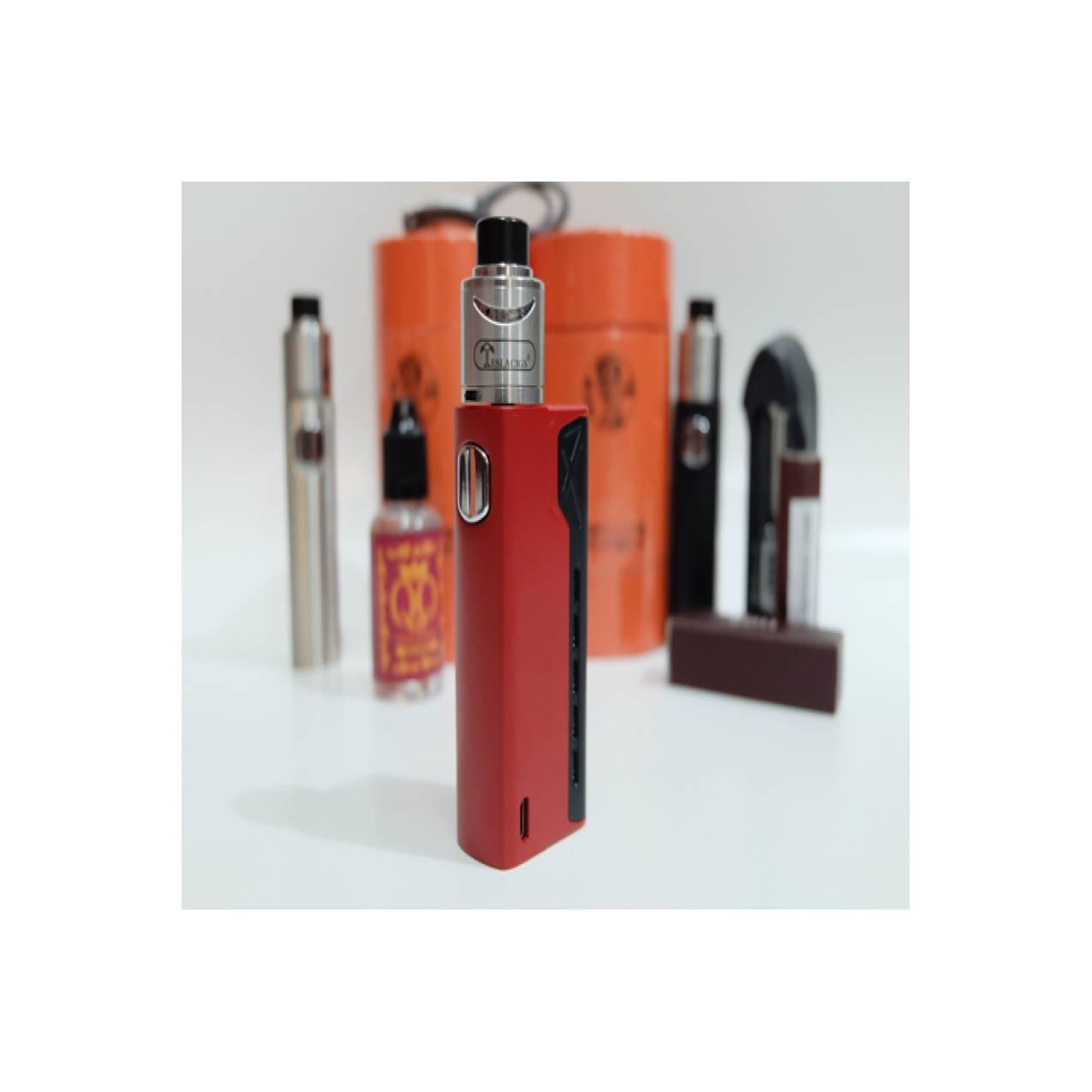paket vape tesla terminator kit RDA red + LG +Liquid charger