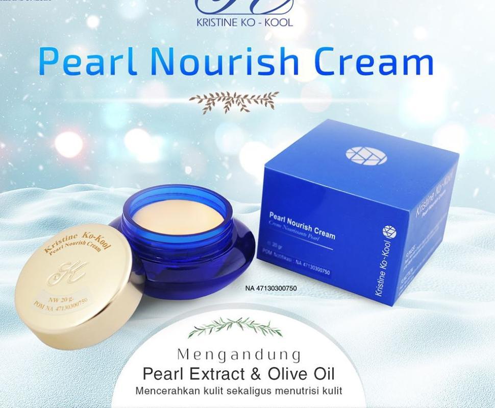 Pearl Nourish Cream Kristine Ko-Kool (Krim khusus sebagai pengganti bedak, alas bedak, pelembab wajah, menutrisi wajah, mencerahkan kulit)
