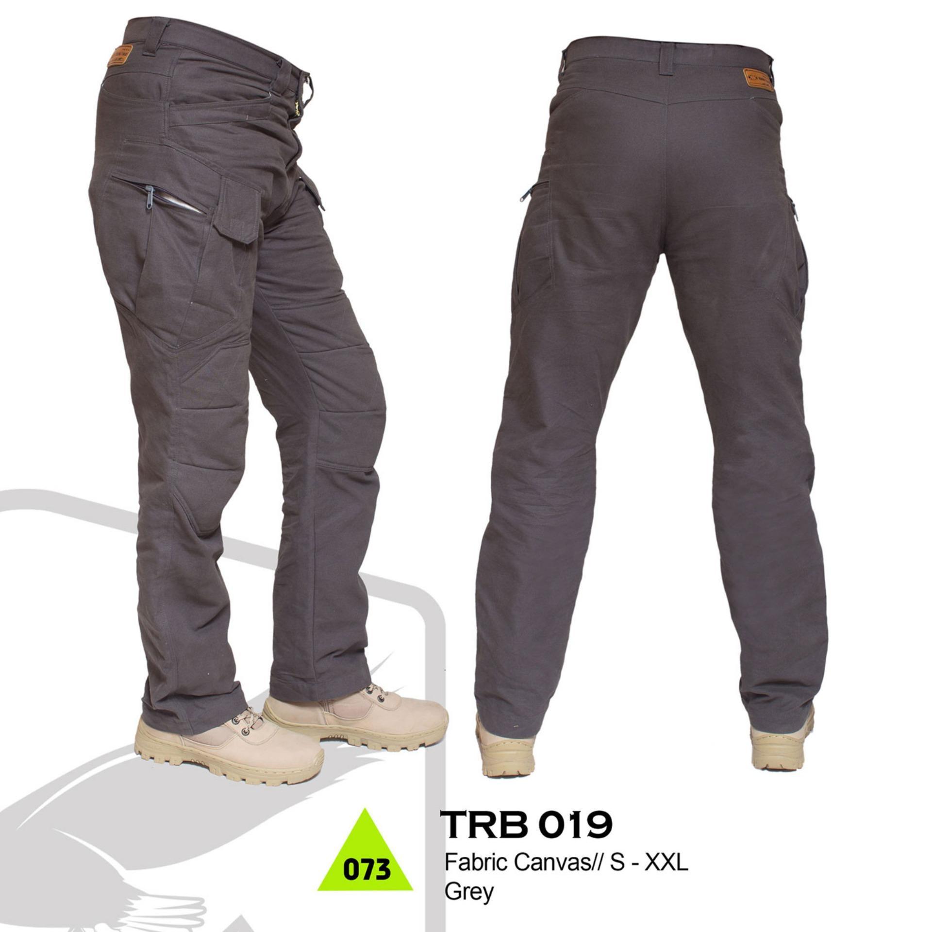 Trekking TRB 019 Celana Gunung - bahan canvas - Bagus & berkualitas (Abu-abu)