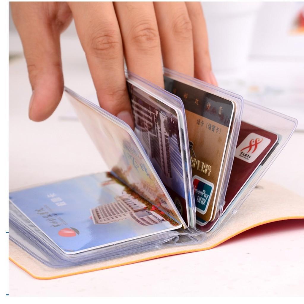 [PROMO] Dompet Kartu Bahan Kulit Untuk 24 Kartu