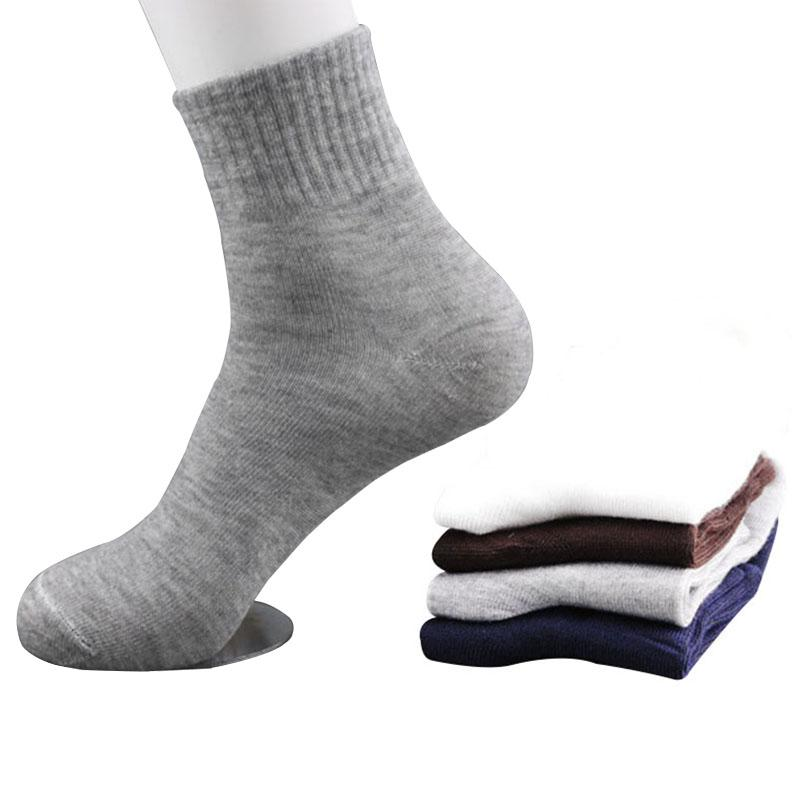 41f585cb15380 5pairs=10pcs 5 Pairs Men Socks Size 39-43 Spring Autumn Solid Color Casual