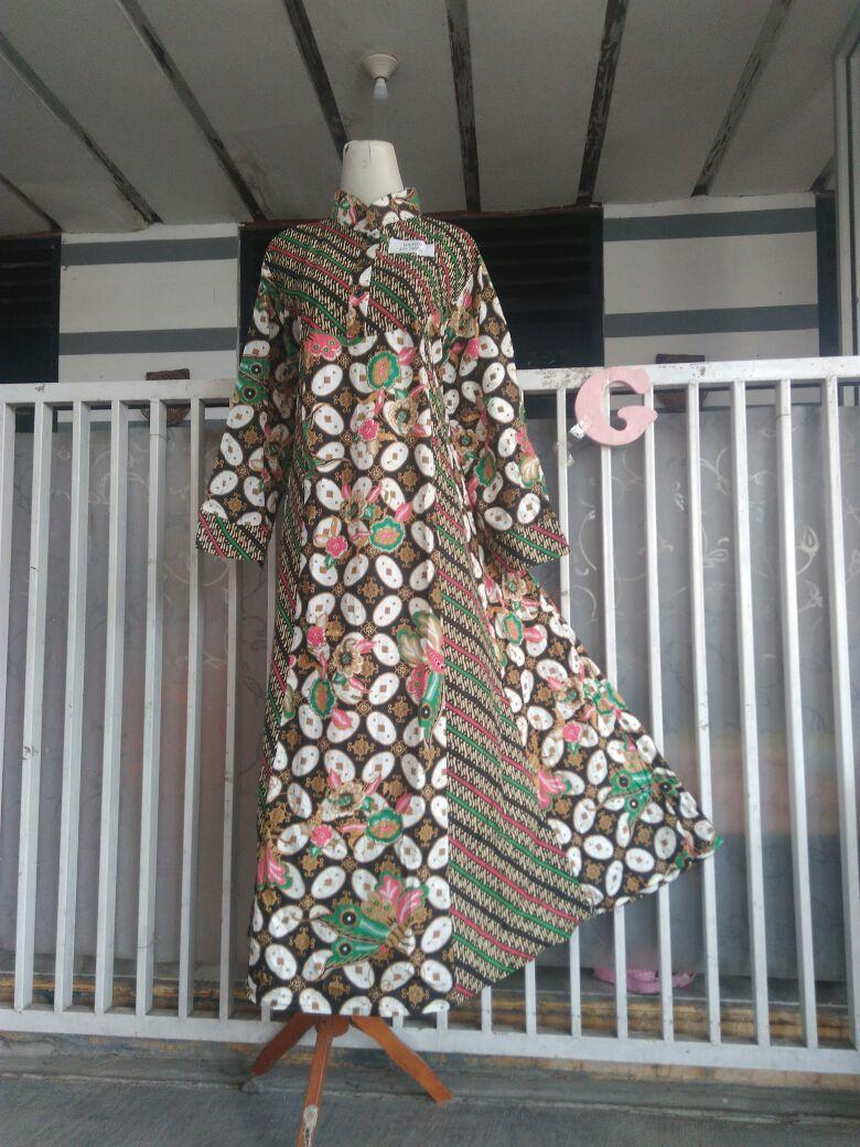 Gamis Hana Batik Hap Model Lengan Lonceng (Busui Ok)