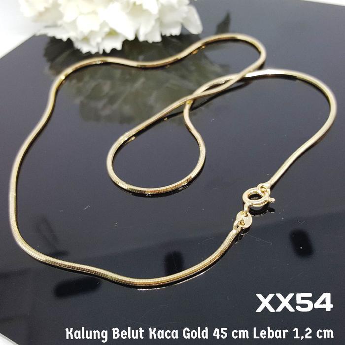 XX54 Kalung Belut Kaca Berkilau - Perhiasan Imitasi Xuping Lapis Emas