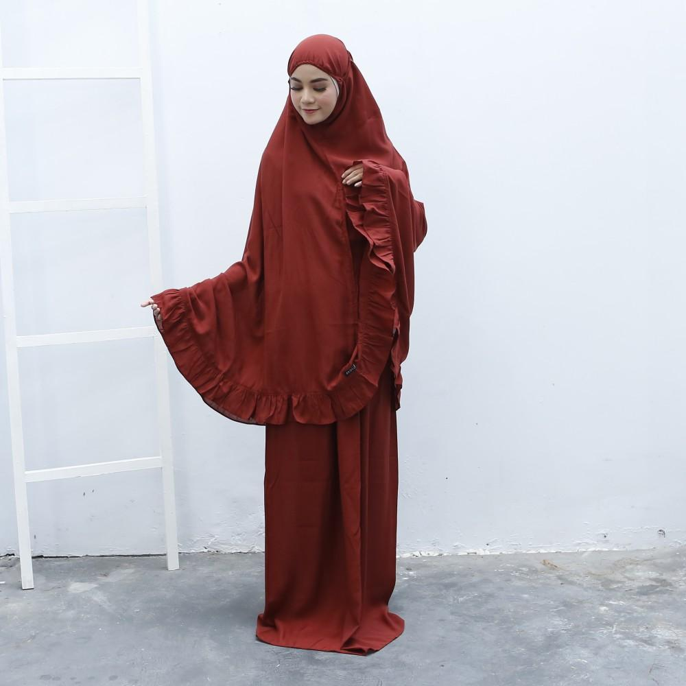 Ukhuwah Mukena Shabira Spec Dan Daftar Harga Terbaru Indonesia Bordir Homemade Hafsyah Putih Fire Brick By Ardelle