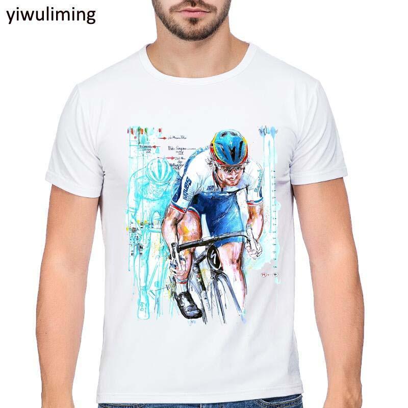2017 Men Print Peter Sagan T-shirt O-Neck Short Sleeves Summer Fashion T 763d3c3a6fce9