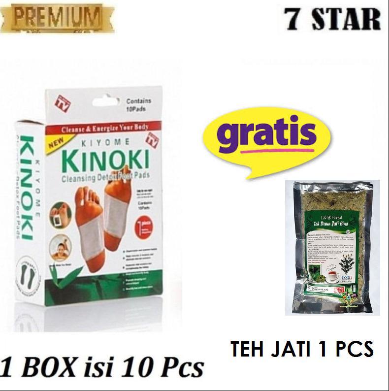 Promo 7STAR - 1 Box Isi 10 Pcs Kinoki White Detox Foot Pads (Koyo Kaki