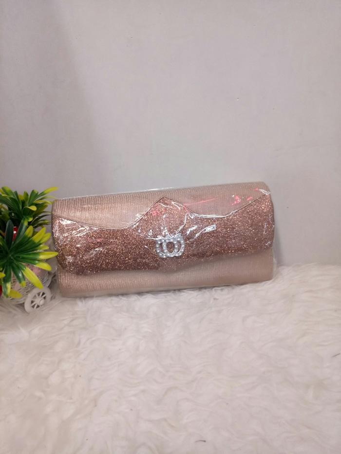 Dompet pesta pernikahan kondangan gliter murah meriah coklat - vAQDWr