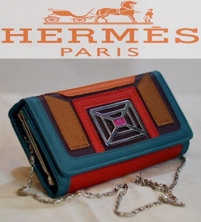 Dompet Hermes Wanita Kulit KW Import Branded selempang model terbaru - KGkrdr