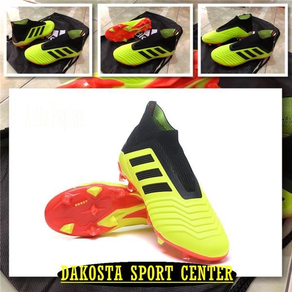 Sepatu Bola - Soccer Adidas Predator 18+ FG - Solar Yellow Red