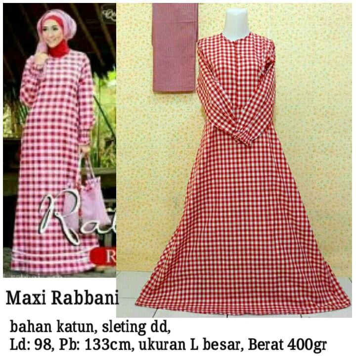 Maxi Dress Katun Gamis Rabbani [SALE]