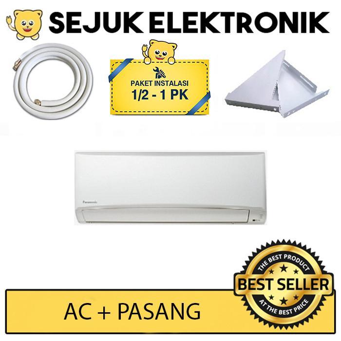 Panasonic CS-YN9TKJ + Pasang (Pipa&Kabel 5m, Duct Tape, Bracket) AC Split 1 PK Standard Putih JAKARTA ONLY