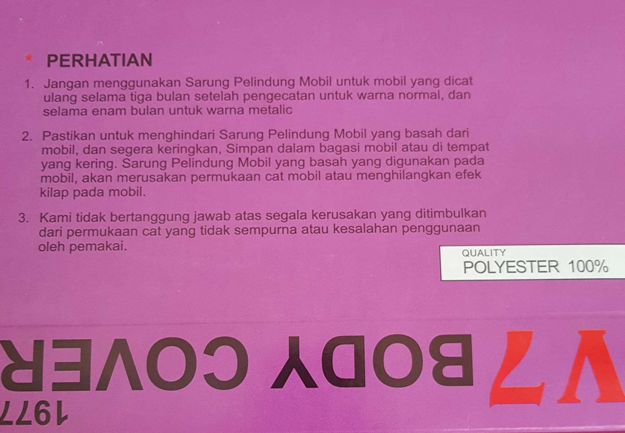... Ayla Sarung Mobil-Ayla Silver Coating Bodycover Mobil - 5