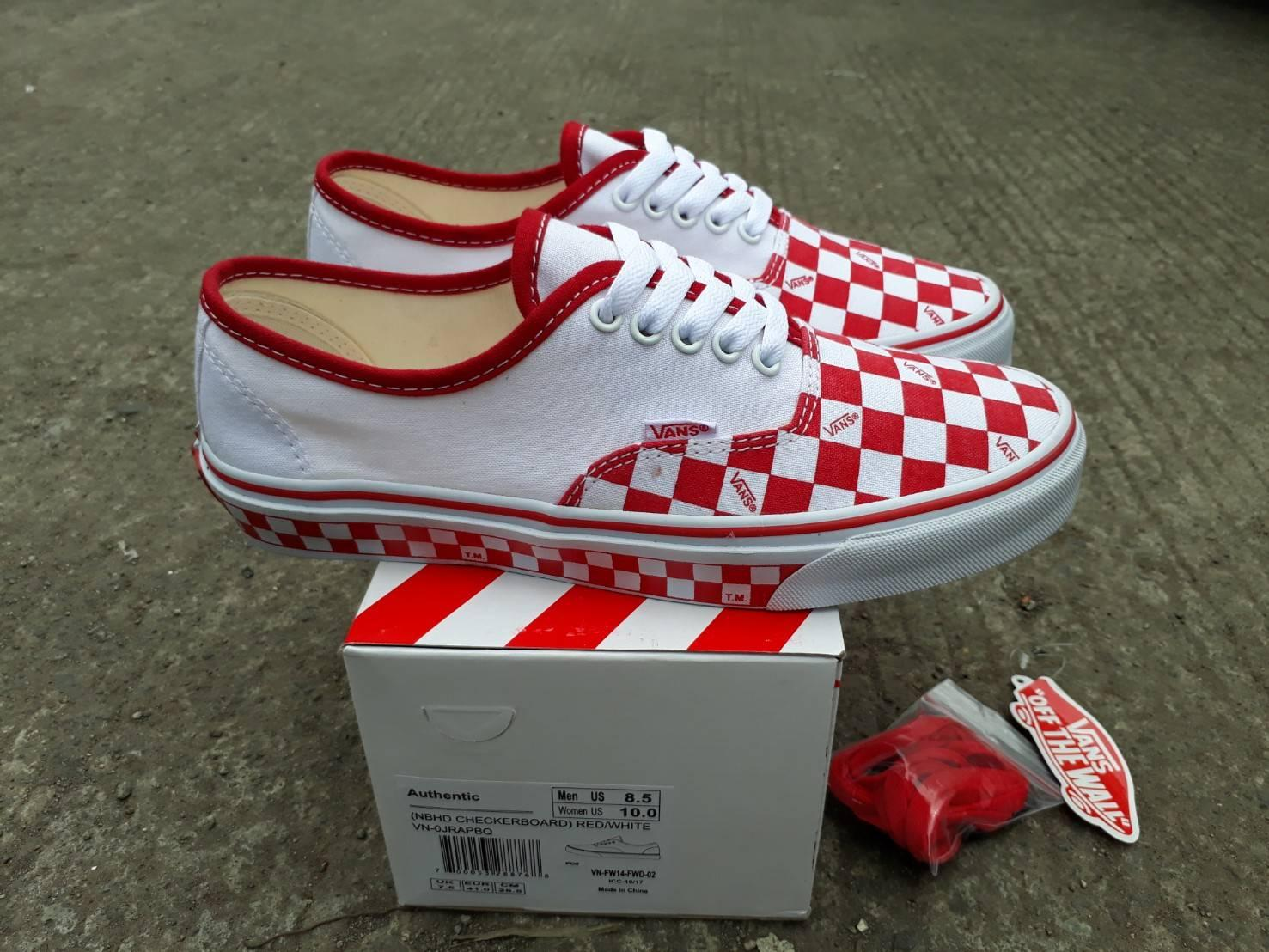 sepatu sneakers vns authentic nbhd checkerboard wafle icc