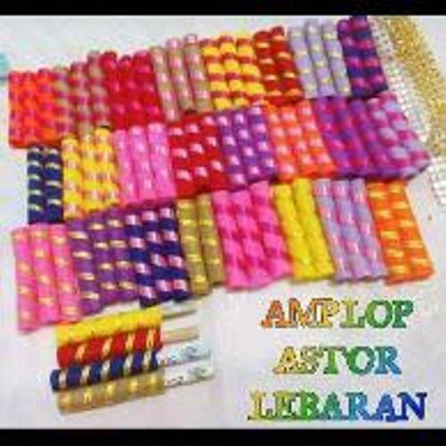 amplop angpao lebaran motif astor 1 pack isi 12