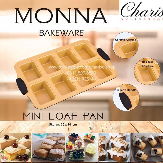 Signora Monna Bakeware - Mini Loaf Pan Loyang Kue Roti Unyil - Dapurmamadina