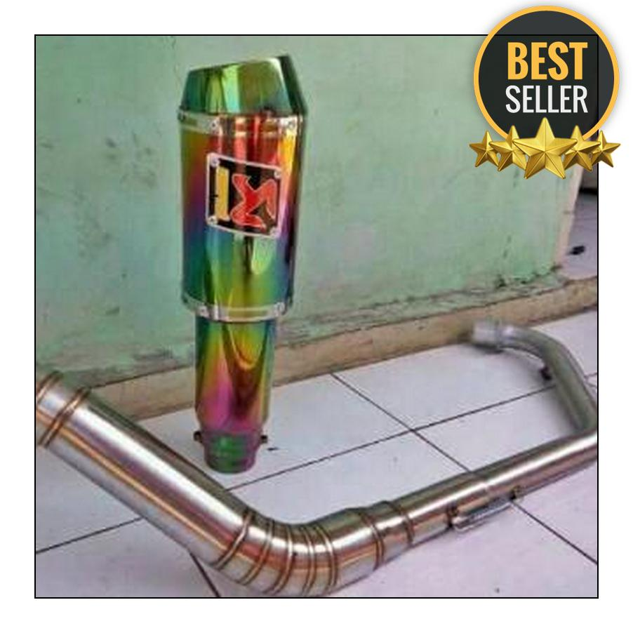 knalpot racing akrapovic rainbow for satria fu