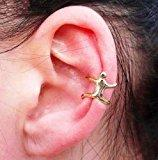 Dragonpad® Gold Climbing Mam Naked Climber Ear Cuff Helix Cartilage Earring By Ytch Fashion.