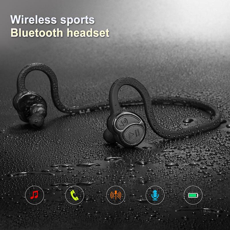 Wireless Bluetooth Sweatproof Headset Stereo Sports Earpiece Headphone Gift