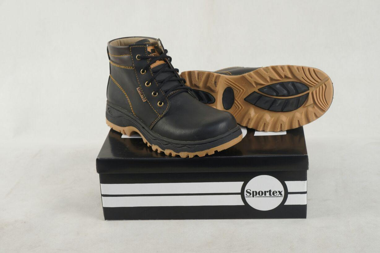 sepatu safety / safety shoes / safety boot by sportex type black brown