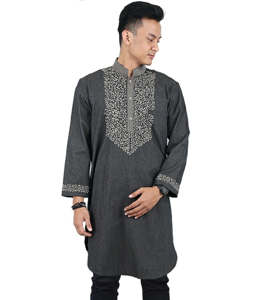 Baju Koko Pria Panjang Kurta Pakistan Sarimbit Shirt Moslem Wear RGS 75