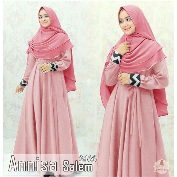 Baju Murah Fashion Muslim Gamis Syari 2466 Annisa Dusty 290817