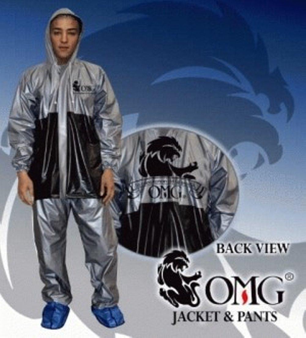 Jas Hujan OMG Set Jaket & Celana Waterproof Seperti GMA ASV Axio Anti Air Merk OMG