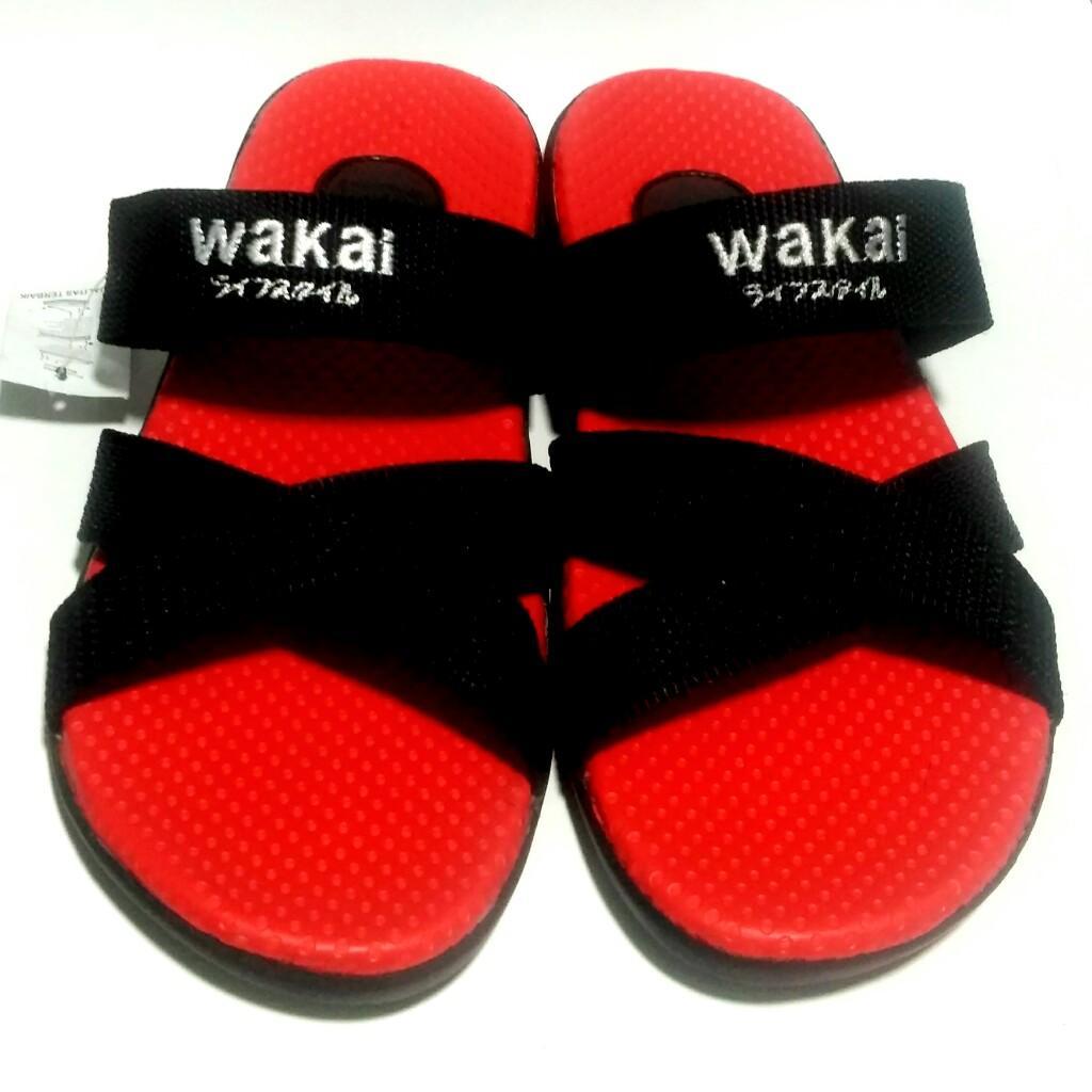 Sandal Wakai Pria Wanita / Sandal Santai Casual Sendal Gunung Murah