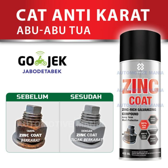 Cat Anti Karat Abu Tua PRIMO ZINC COAT 400ml