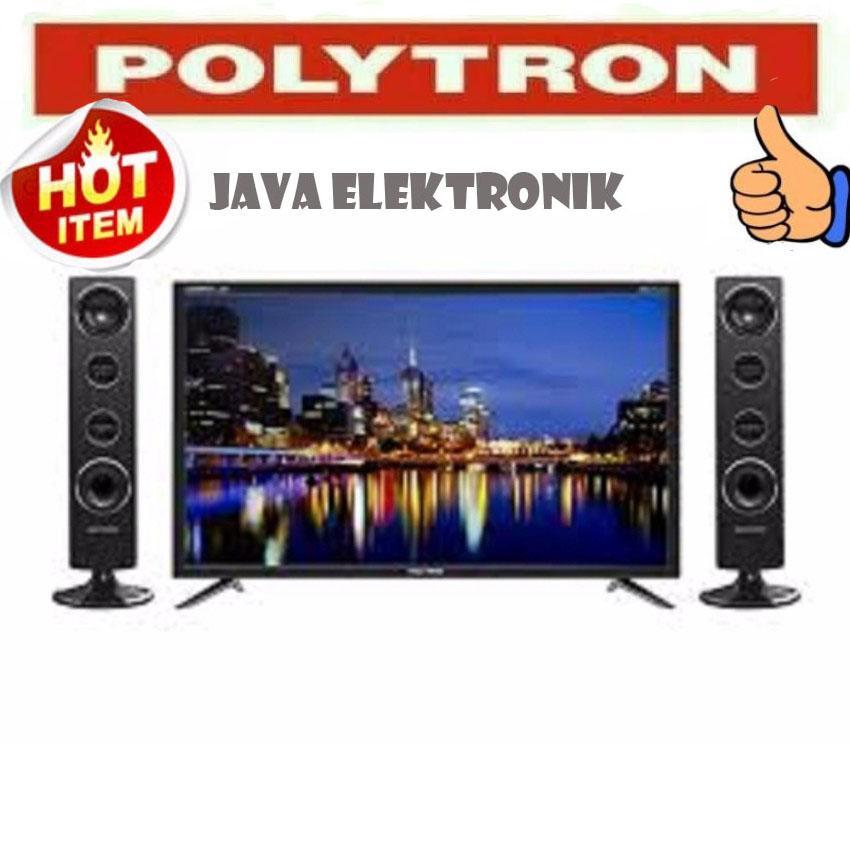 Polytron PLD24T8511 [LED 24Inch] + Speaker Set Cinemax - Hitam GARANSI RESMI