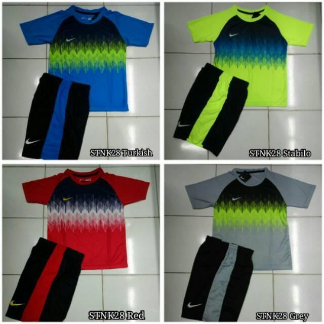 Kaos Setelan Baju Anak Jersey Futsal / Sepak Bola Nike Stnk28