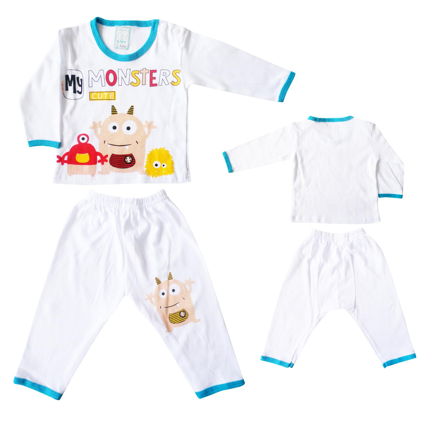 Paket Hemat Waka Baby Set Pakaian Baju Anak Bayi Laki - Kode B .