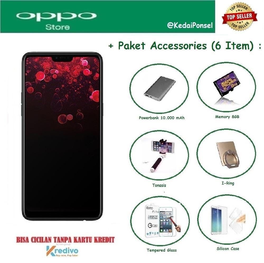 OPPO F7 [4/64GB] + 6 Item Accessories