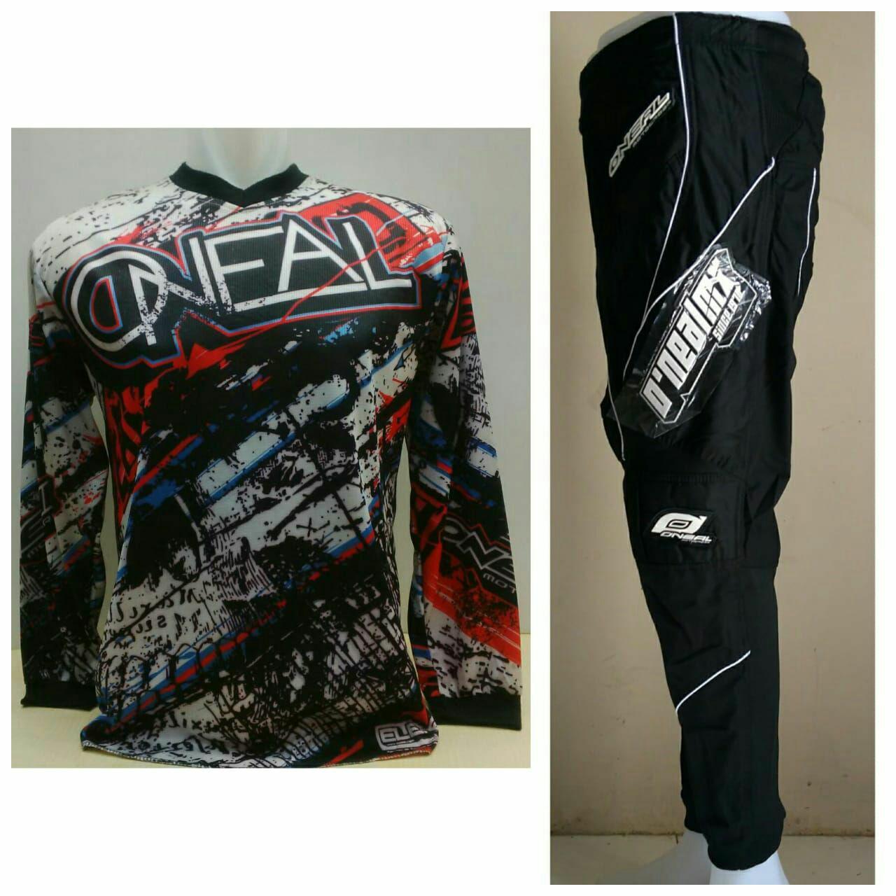 Oneal Jersey Celana Trail Cross Motocross Racing Hitam dryfit