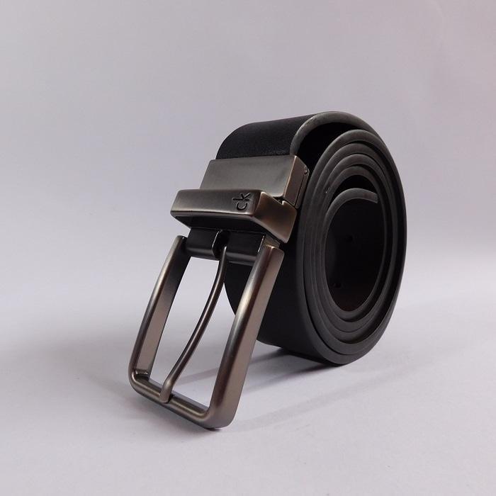 Ikat Pinggang Pria Belt Sabuk Gesper Metal Buckle Kulit CK004 - Hitam
