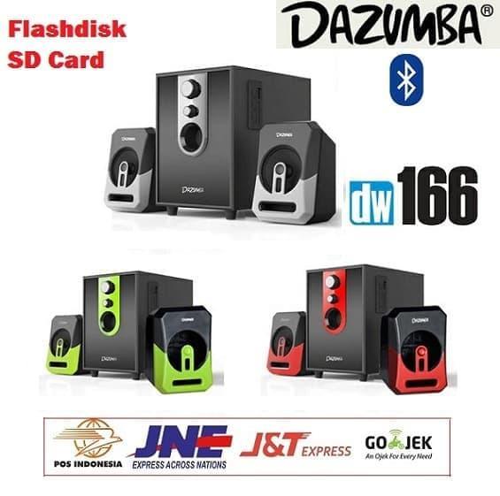 Gambar Produk Rinci Speaker Dazumba Aktif Portable DW166G Bluetooth Subwoofer BASS Terkini