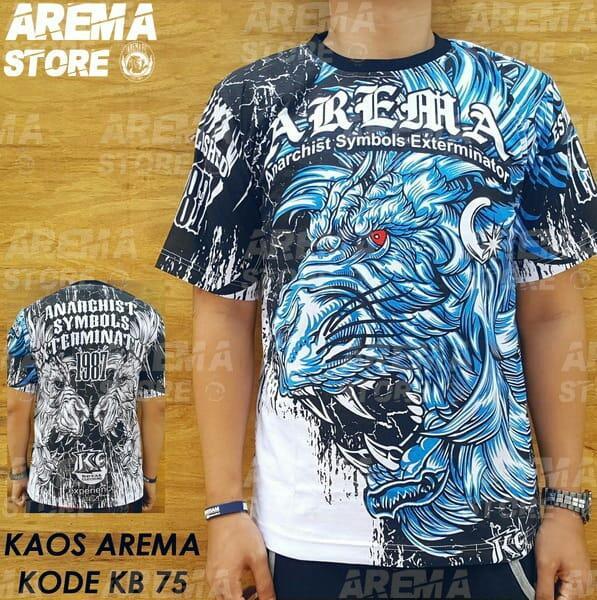 Baju Kaos Arema Aremania baru murah bahan katun