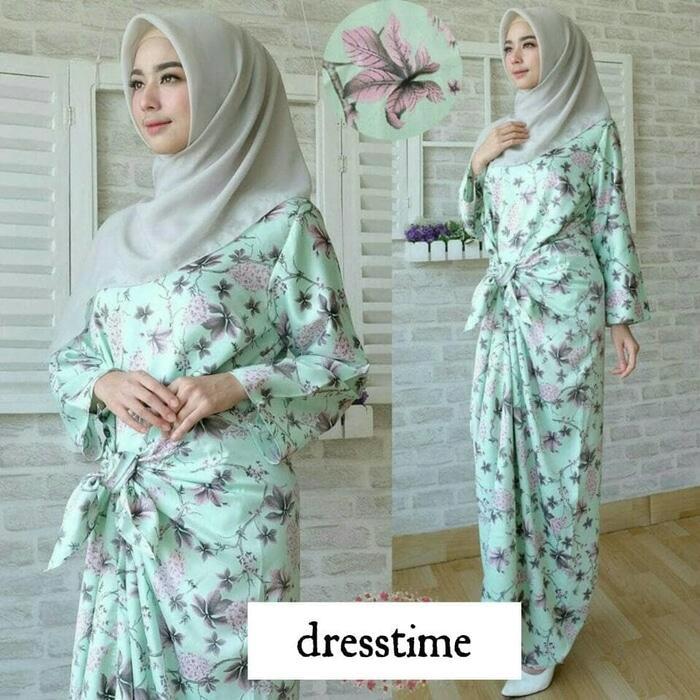 gamis / kaftan ikat / baju muslim / gaun pesta / maxi dress 634